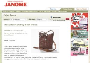 Tasche aus Cowboystiefel